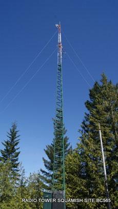 Radio Tower Squamish Britsh Columbia